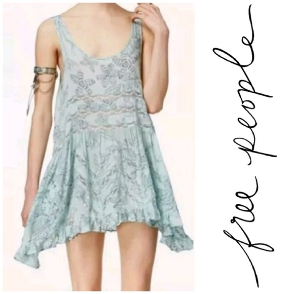 Free People Tops - Intimately Free People Blue Lace Trapeze Voile